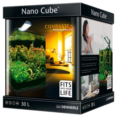 Aquarium nano cube complete plus 30 l pour animaux for Vente aquarium complet