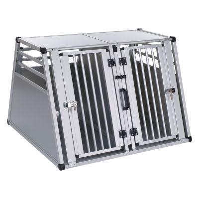cage double aluline cage de transport pour chien zooplus. Black Bedroom Furniture Sets. Home Design Ideas
