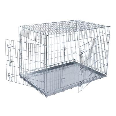 cage de transport pour chien double door. Black Bedroom Furniture Sets. Home Design Ideas