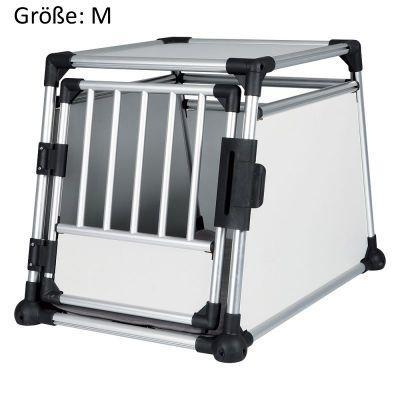 trixie - cage de transport en aluminium pour chien, gris clair