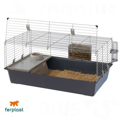rabbit 100 cage pour lapin et cochon d 39 inde zooplus. Black Bedroom Furniture Sets. Home Design Ideas