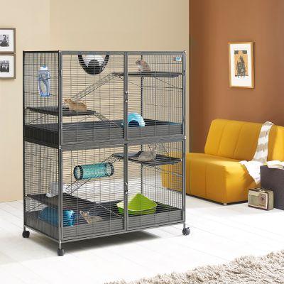 Savic grande cage pour rat furet et chinchilla zooplus for Accessoire furet fait maison