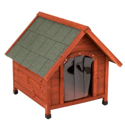 Caseta de madera spike confort con puerta para perros - Casetas madera aki ...