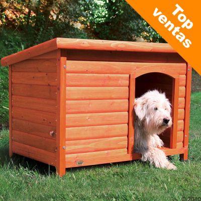 Caseta de madera trixie natura de techo plano para perros - Caseta perro madera ...
