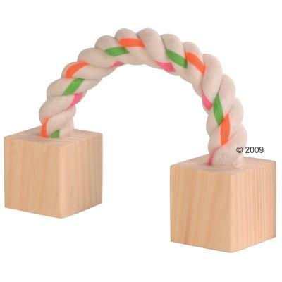 Cuerda de algodón con cubos de madera