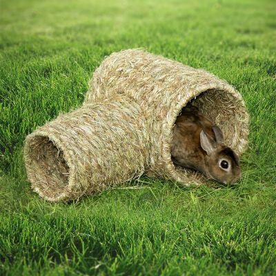 double tunnel en herbe pour rongeur et lapin zooplus. Black Bedroom Furniture Sets. Home Design Ideas