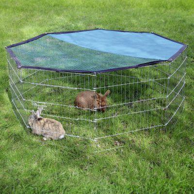 Enclos octogonal en m tal pour rongeur et lapin zooplus for Enclos exterieur pour lapin