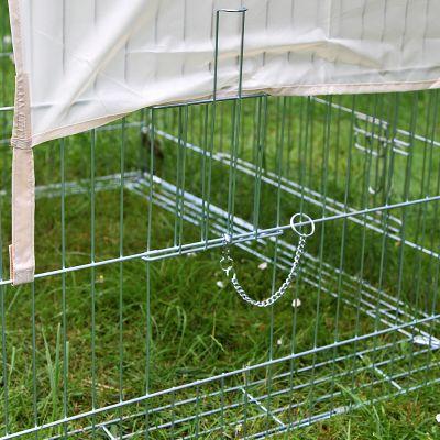 Enclos rectangulaire avec dispositif anti-fugue pour rongeur