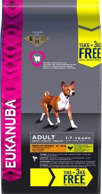 Eukanuba 18 kg en oferta: 15 + 3 kg  ¡gratis!
