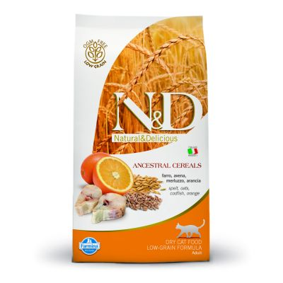 Farmina N&D Low Grain Adult Cat Merluzzo e Arancia