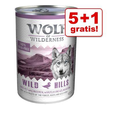 5 + 1 gratis! Wolf of Wilderness, 6 x 400 g