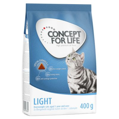 1 + 1 gratis! 2 x 400 g Concept for Life Katzentrockenfutter
