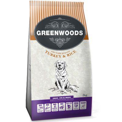 Greenwoods Naturally Hypoallergenic Senior/Light pavo arroz