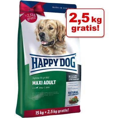 Happy Dog Fit & Well + 2 / 2,5 kg gratis!