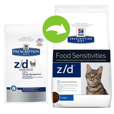 hill 39 s prescription diet feline z d food sensitivities croquettes pour chat zooplus. Black Bedroom Furniture Sets. Home Design Ideas