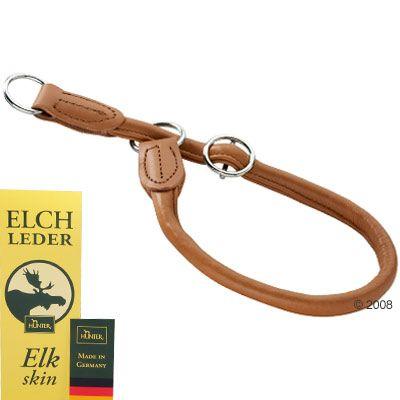 HUNTER Hundehalsband Round & Soft Elk cognac