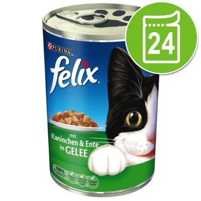 Lot de boîtes Felix Emincés en gelée 24 x 400 g