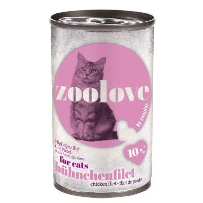 Lot de boîtes zoolove 24 x 140 g pour chat