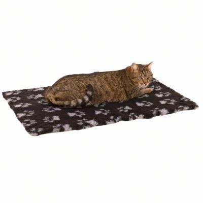Manta Vetbed® Isobed SL Paw, negra/gris para gatos