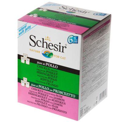 Pack mixto Schesir en gelatina bolsitas 6 x 100 g