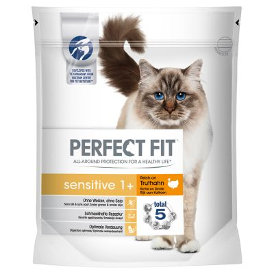 Perfect Fit Sensitive 1+ en oferta: 1,4 kg + 12 x 85 g bolsitas Sensitive ¡gratis!