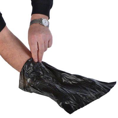 Rouleaux de sacs à excréments biodégradables, noirs