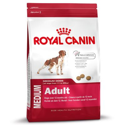royal canin medium adult dry dog food free p p 29 at zooplus. Black Bedroom Furniture Sets. Home Design Ideas