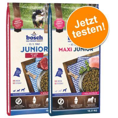 Sparpaket: 2 x 15 kg Bosch Junior im gemischten Paket