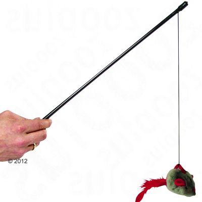 Wędka z myszką wydającą dźwięk