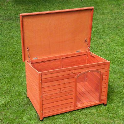 woody flachdach hundeh tte mit kunststofft r g nstig kaufen bei zooplus. Black Bedroom Furniture Sets. Home Design Ideas