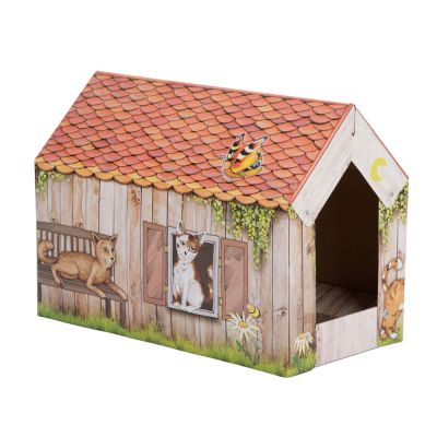 zoolove casita Home con bloque de cartón para gatos